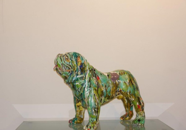 Englische Bulldogge Kunstharz1