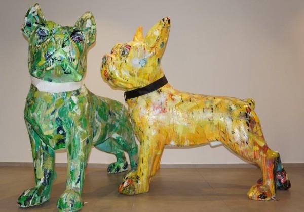 Franzäsische Bulldoggen, GFK, 180 cm