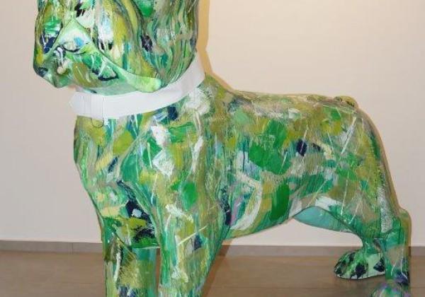 Französische Bulldogge GFK, 180 cm